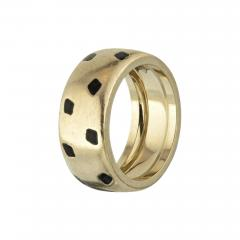 Cartier CARTIER PANTHERE 18K WHITE GOLD SPOTTED LACQUER RING - 1934865