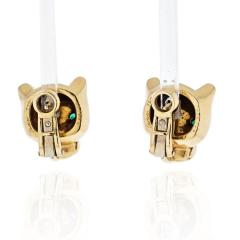 Cartier CARTIER PANTHERE 18K YELLOW GOLD HEAD STUD EARRINGS - 1932070