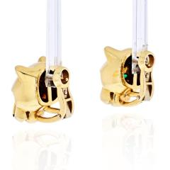 Cartier CARTIER PANTHERE 18K YELLOW GOLD HEAD STUD EARRINGS - 1932071