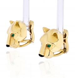 Cartier CARTIER PANTHERE 18K YELLOW GOLD HEAD STUD EARRINGS - 1932072