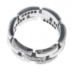 Cartier CARTIER PANTHERE WHITE DIAMOND LINK CHAIN STYLE WEDDING BAND 18K WHITE GOLD - 1954954