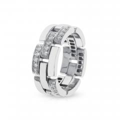 Cartier CARTIER PANTHERE WHITE DIAMOND LINK CHAIN STYLE WEDDING BAND 18K WHITE GOLD - 1955189
