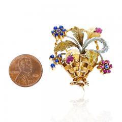 Cartier CARTIER RUBY AND SAPPHIRE FLOWER BOUQUET BROOCH 18 KARAT TWO TONE GOLD - 2077461