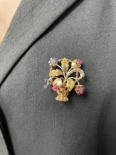 Cartier CARTIER RUBY AND SAPPHIRE FLOWER BOUQUET BROOCH 18 KARAT TWO TONE GOLD - 2077464