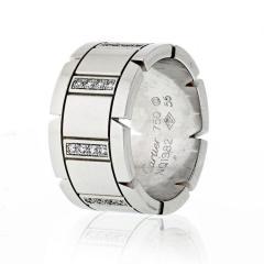 Cartier CARTIER TANK FRANCAISE 18K WHITE GOLD DIAMOND WEDDING BAND - 1796881