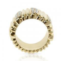 Cartier CARTIER TEXTURED 18 KARAT YELLOW GOLD AND DIAMOND BAND RING - 1989707