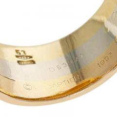 Cartier CARTIER TRI COLOR ELEVATED RING WITH DIAMONDS 18K ROSE WHITE YELLOW GOLD - 2086690