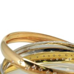 Cartier CARTIER TRINITY 18K TWO TONE CELESTIAL TRI COLOR DIAMOND BANGLE BRACELET - 1705050