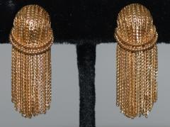 Cartier Cartier 18 K Gold Chain Clip on Earrings - 1124211