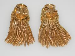 Cartier Cartier 18 K Gold Chain Clip on Earrings - 1124213
