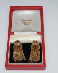 Cartier Cartier 18 K Gold Chain Clip on Earrings - 1124215