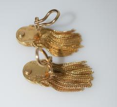 Cartier Cartier 18 K Gold Chain Clip on Earrings - 1124217