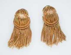 Cartier Cartier 18 K Gold Chain Clip on Earrings - 1152394