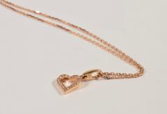 Cartier Cartier 18 Karat Pink Gold and Diamond Heart Pendant and Necklace 0 25 Carat - 964177