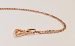Cartier Cartier 18 Karat Pink Gold and Diamond Heart Pendant and Necklace 0 25 Carat - 964190