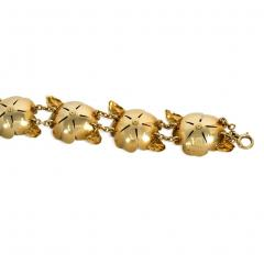 Cartier Cartier 1940s Gold and Enamel Flower Link Bracelet - 1219051