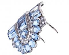 Cartier Cartier Aquamarine and Diamond Dress Clip Brooch - 1011905