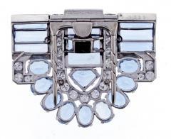 Cartier Cartier Aquamarine and Diamond Dress Clip Brooch - 1011906
