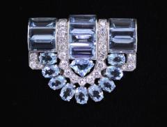 Cartier Cartier Aquamarine and Diamond Dress Clip Brooch - 1011907
