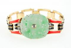Cartier Cartier Art Deco Jade and Enamel Gold Bracelet - 198907