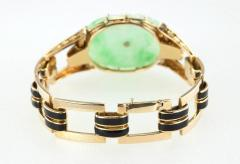 Cartier Cartier Art Deco Jade and Enamel Gold Bracelet - 198908