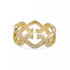 Cartier Cartier C Hearts of Cartier Diamond Ring in 18K Yellow Gold 0 50 CTW  - 1309351