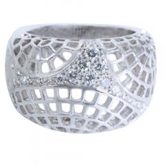 Cartier Cartier Diamond Dome Ring in 18K White Gold 0 45 CTW - 1284264