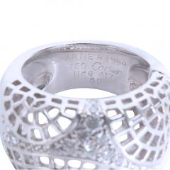 Cartier Cartier Diamond Dome Ring in 18K White Gold 0 45 CTW - 1284274