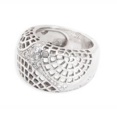 Cartier Cartier Diamond Dome Ring in 18K White Gold 0 45 CTW - 1285712