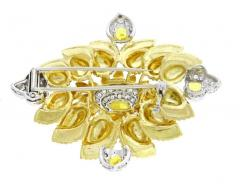 Cartier Cartier Enamel Diamond and Yellow Garnet Brooch - 1136183