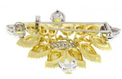 Cartier Cartier Enamel Diamond and Yellow Garnet Brooch - 1136186