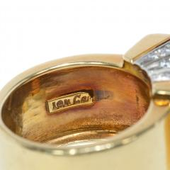 Cartier Cartier Estate Gold and Diamond Modernist Ring with Domed Top - 1861563