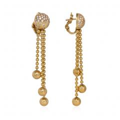 Cartier Cartier Estate Nouvelle Vague Gold Bead and Diamond Earrings with Fringe - 1853998