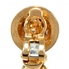 Cartier Cartier Estate Nouvelle Vague Gold Bead and Diamond Earrings with Fringe - 1854000