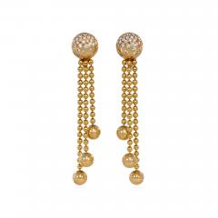 Cartier Cartier Estate Nouvelle Vague Gold Bead and Diamond Earrings with Fringe - 1854114