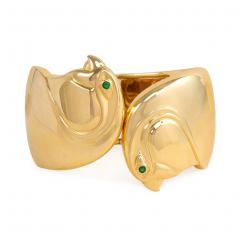 Cartier Cartier Gold Double Birds Head Cuff Bracelet - 589278