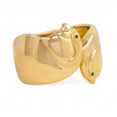Cartier Cartier Gold Double Birds Head Cuff Bracelet - 589279