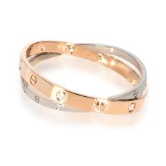 Cartier Cartier Joined Love Bracelet in 18KT Rose Gold White Gold 0 75 CTW - 1841893