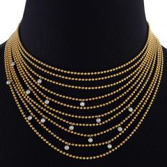 Cartier Cartier Late 20th Century Diamond and Gold Nouvelle Vague Collection Necklace - 718095