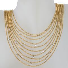 Cartier Cartier Late 20th Century Diamond and Gold Nouvelle Vague Collection Necklace - 718096