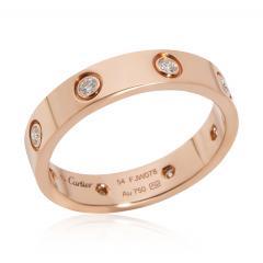 Cartier Cartier Love Diamond Band in 18K Pink Gold 0 19 CTW - 2058489