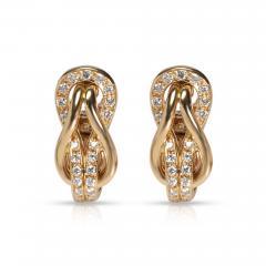 Cartier Cartier Love Knot Diamond Earrings in 18K Yellow Gold 0 42 CTW - 1842169