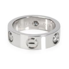 Cartier Cartier Love Ring with Diamonds in 18K White Gold 0 22 CTW - 2058535