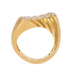 Cartier Cartier Mid Century Gold and Diamond Undulating Ring - 2016437
