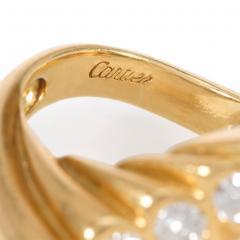 Cartier Cartier Mid Century Gold and Diamond Undulating Ring - 2016438