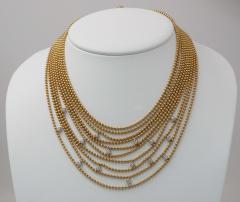 Cartier Cartier Multi Strands of Gold Beeds Daimond Necklace - 647330