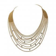 Cartier Cartier Multi Strands of Gold Beeds Daimond Necklace - 651301