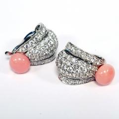Cartier Cartier Paris Late 20th Century Diamond Conch Pearl and Platinum Earrings - 718086
