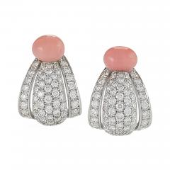 Cartier Cartier Paris Late 20th Century Diamond Conch Pearl and Platinum Earrings - 718877