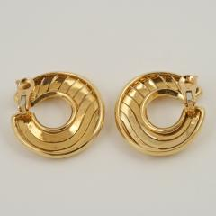 Cartier Cartier Paris Late 20th Century Gold Hoop Earrings - 1170473